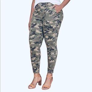 Lane Bryant Camo Utility Skinny Pant w/Studded Hem